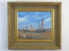 Vintage Painting of a Ship - S. T. Pavola G.V.