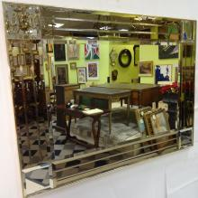 Mid-Century Beveled Wall Mirror