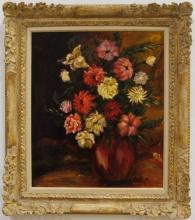 Still Life w/Flowers- Vira Ludlow- Oil on Canvas