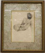 Nude Portrait of Lady- Anders Zorn- Pencil/Paper