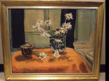Still Life w/Flowers- Pauline Palmer- Oil/Canvas