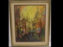 Impressionist Cityscape- Johanna Secor- Oil/Canvas