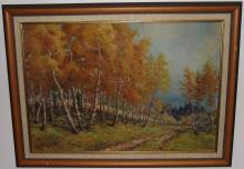 Landscape with Trees- Signed Babaky- Oil on Canvas