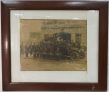 Antique Framed Photograph of Firemen