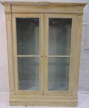 Swedish Painted Bookcase with Glass Doors