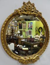 Art Nouveau Gilt Wood Hall Mirror