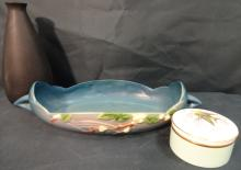 2 Rosewood Pottery+1 Royal Worcester Vintage Items