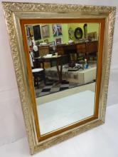 Antique Gilt Wall Mirror with Burl Trim