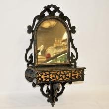 Antique Cottage-Style Wall Dressing Mirror
