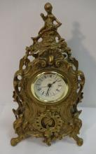 Vintage Uranio West German Brass Table Clock