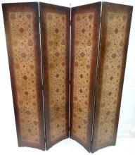Antique Dressing Screen with Four Panels