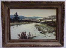 Snowscape by Marion J. Dimmock- Oil on Canvas