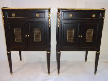Pair of Mid-Century John Widdicomb Gilt End Tables