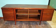Mid-Century Walnut Office Credenza