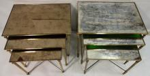 Pair of Jansen-Style Mirrored Nesting Tables