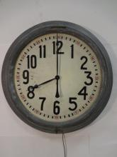 Large Art Deco Electric Wall Clock
