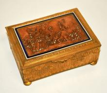 Antique French Ormolu Cedar-Lined Humidor