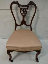 19th Century Carved Mahogany Nursing Chair