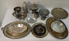 Lot/16 Vintage+Antique Silver Plated+Pewter Pieces