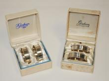 Two Pairs of Gorham Sterling Napkin Rings w/Boxes
