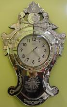 Art Nouveau-Style Mirrored Clock- La Crosse