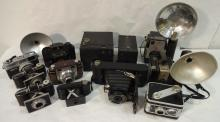 Lot of 12 Antique and Vintage Cameras