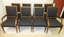 Set of 8 Jansen-Style Black and Gold Chairs