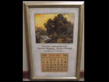 1920 Otto Simmons Advertising Litho with Calendar