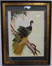 Feathercraft Mixed Media Painting & Rooster Print