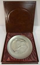 Hamilton Mint Pewter Plate- Mother+Child- #d w/COA