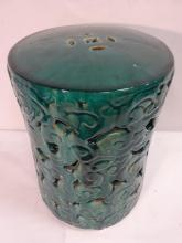 Vintage Chinese Teal Green Ceramic Garden Seat