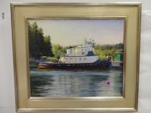 Robert Schweizer- Port Clyde Scene- Oil/Canvas