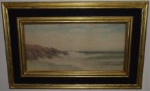 Antique Watercolor Seascape- George Howell Gay