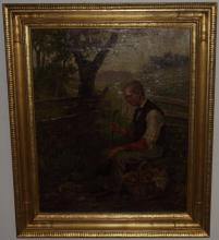 Portrait of Gardener- Louis E. Lambert- Oil/Canvas