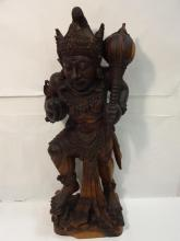 Wooden Statue of a Thai King