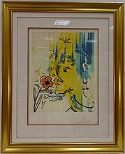 Salvador Dali/Vanishing Faces/Signed+#d Lithograph