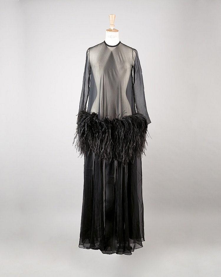 Yves SAINT LAURENT haute couture  Automne-Hiver 1968/1969, n° de passage 74