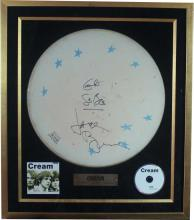 Drumhead Signed by Cream