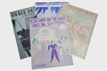 Lot of 4 Written and Owned Sheet Music by Duke Ellington
