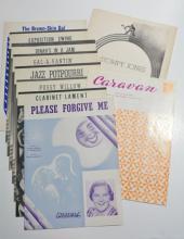 Lot of 10 Written and Owned Sheet Music by Duke Ellington