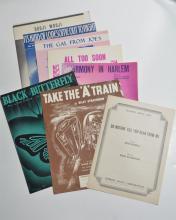 Lot of 8 Written and Owned Sheet Music by Duke Ellington