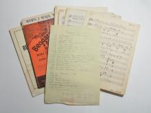 Beggar's Holiday, Assorted Documents