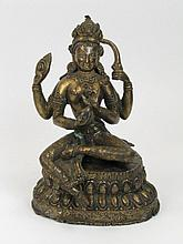 A NEPALESE BRONZE OF TARA,
