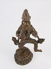 A NEPALESE COPPER ALLOY CAST OF VAISHYAS
