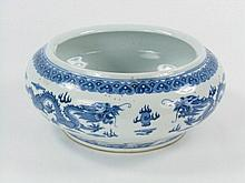 A QING DYNASTY BLUE AND WHITE BOWL,