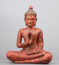 Antique Style Khmer Teaching Buddha