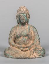 Seated Chinese Bronze Buddha in Meditation Mudra
