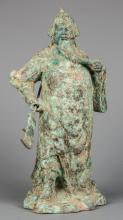 Standing Bronze 19th Century Chinese Guandi. God of War