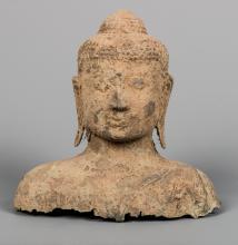Thai Ayutthaya Style Bronze Buddha Head
