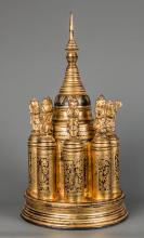 19th Century Burmese Lacquerware Medicine Box